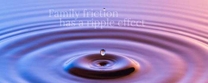 Family conflict has a ripple effect